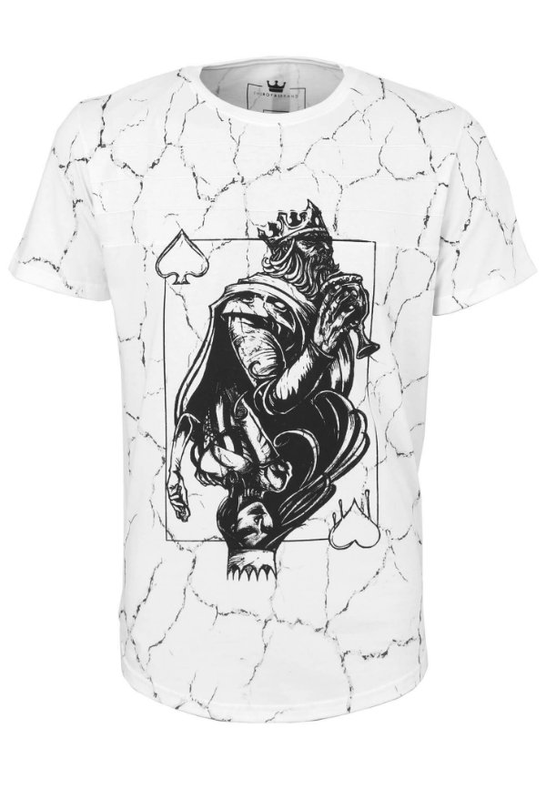 Camiseta King Queen White