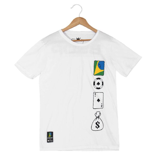 Camiseta BSOP Chip Card Money Branco