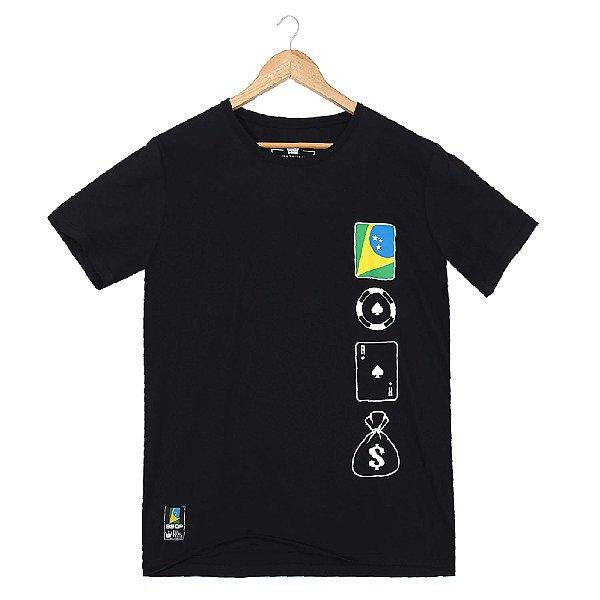 Camiseta BSOP Chip Card Money Preto