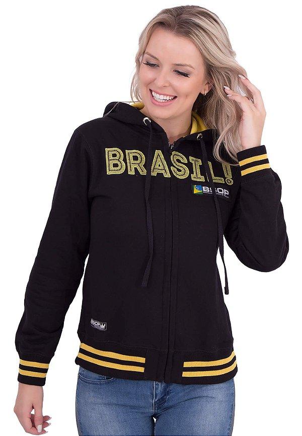 Moletom Feminino BSOP Brasil Black