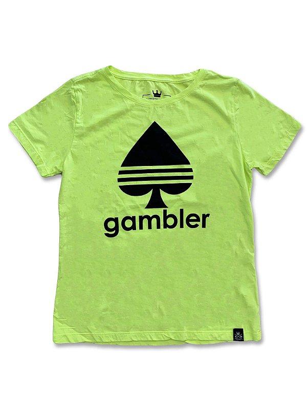 Camiseta Feminina Gambler Neon