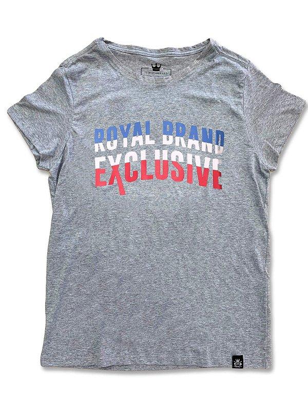 Camiseta Feminina Royal Brand Exclusive Mescla
