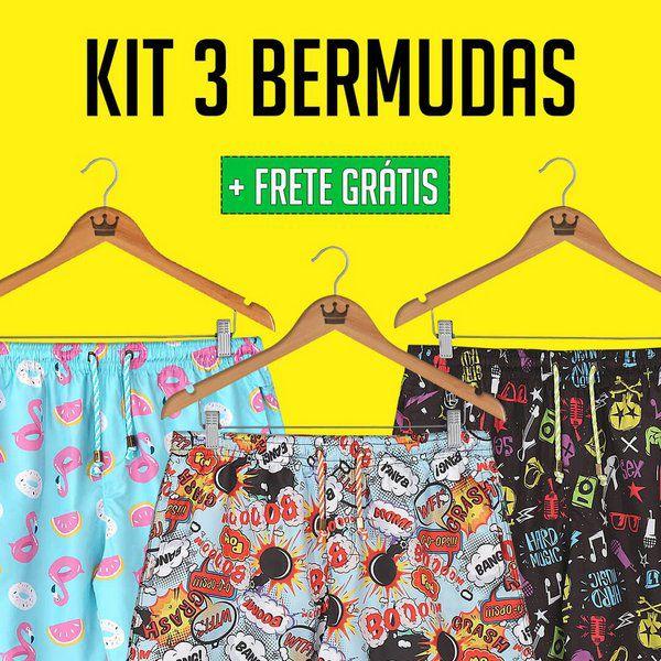 Kit Promo 3 Bermudas de R$299,70 por R$249,90