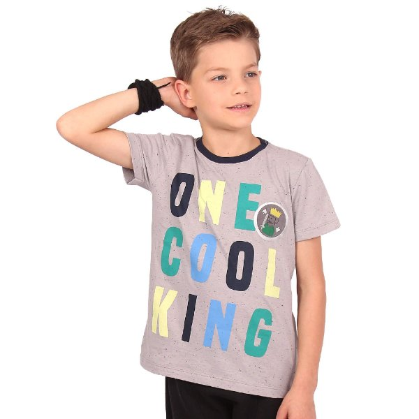 Camiseta Infantil Menino One Cool King