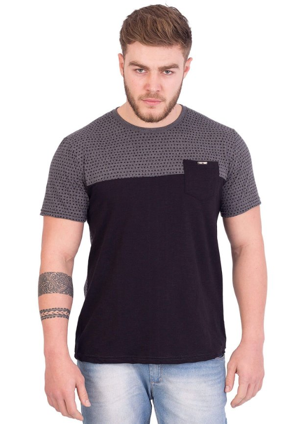 Camiseta Black Pocket Suits