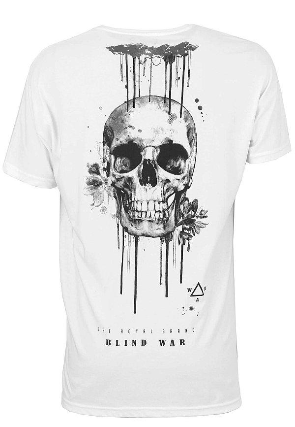 Camiseta Long White Skull