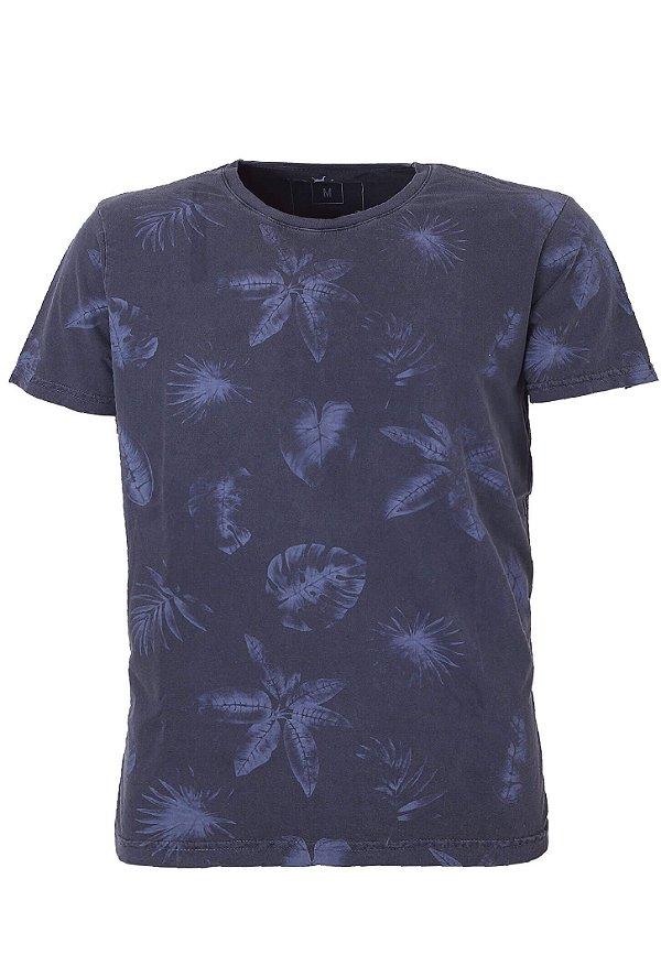 Camiseta Folhagem Azul