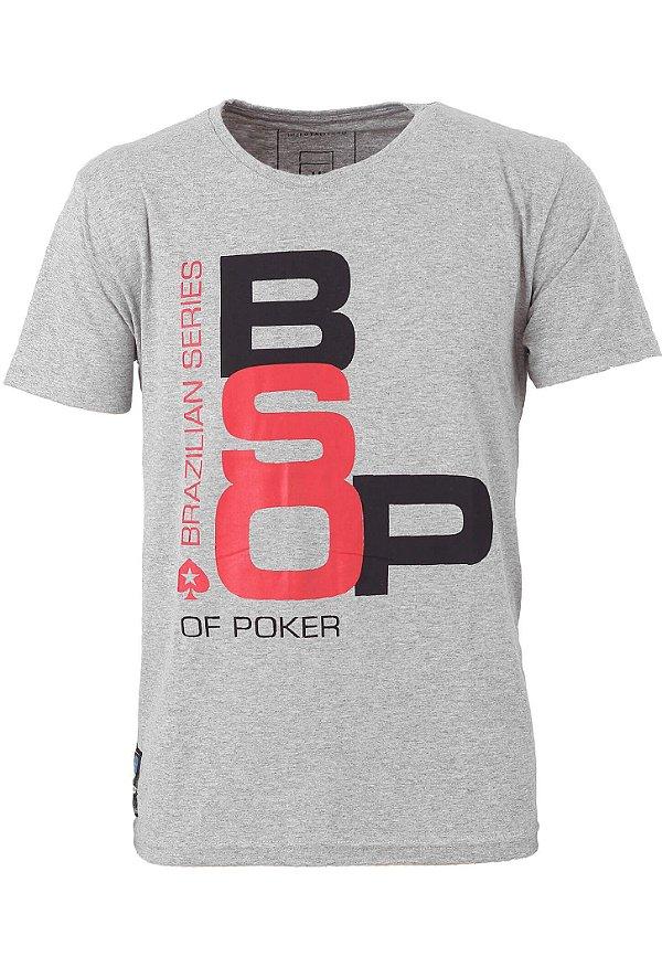 Camiseta BSOP Poker Mescla