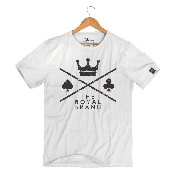 Camiseta Royal Signature Logo Branco