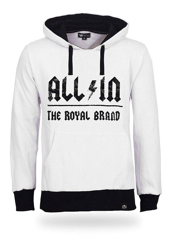 Moletom All In Royal Brand White