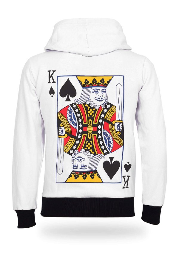 Moletom King of Spades White