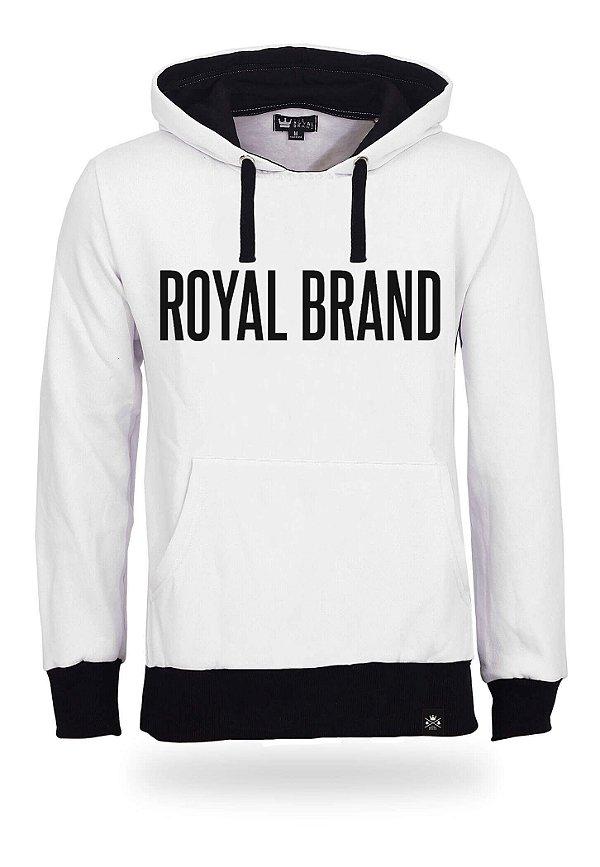 Moletom Royal Brand White & Black