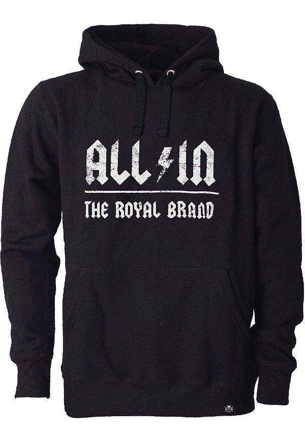 Moletom All in Royal Brand Black