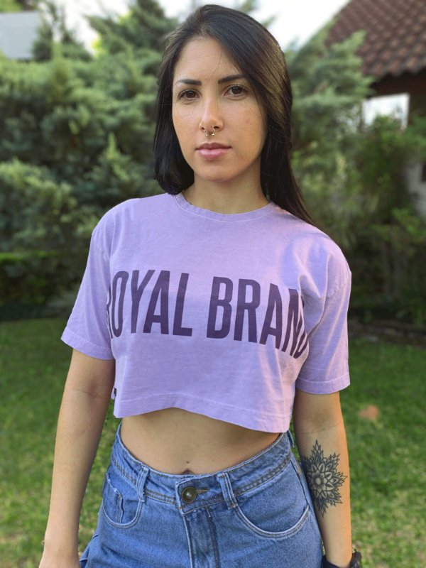 Cropped Royal Brand Purple