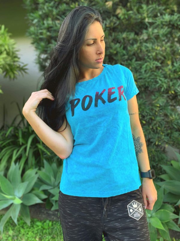 Camiseta Feminina Poker Blue