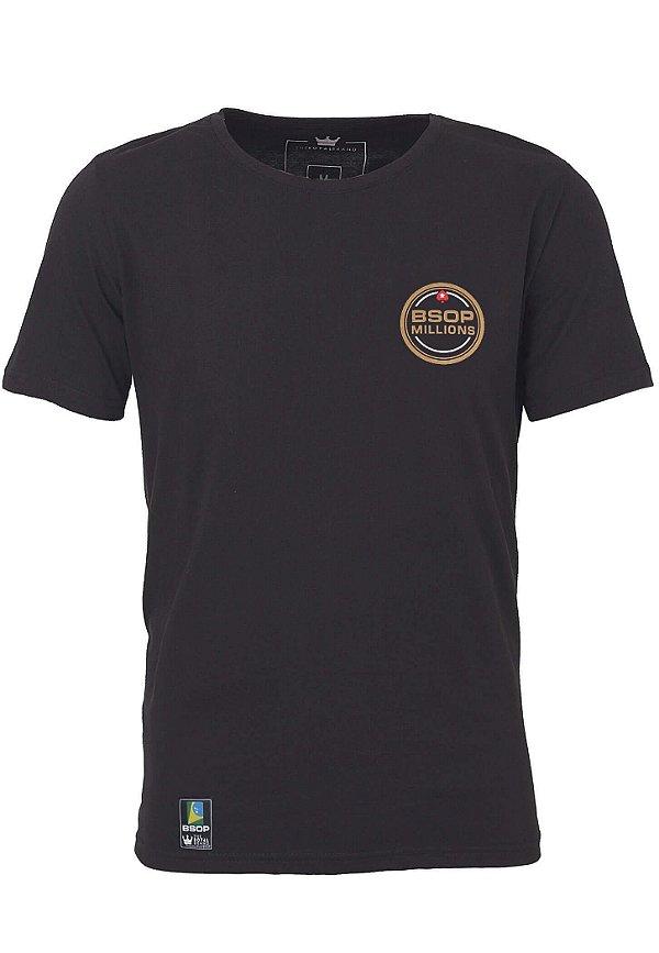 Camiseta Feminina BSOP Millions Preto