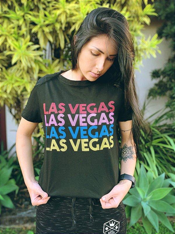 Camiseta Feminina Las Vegas Preto