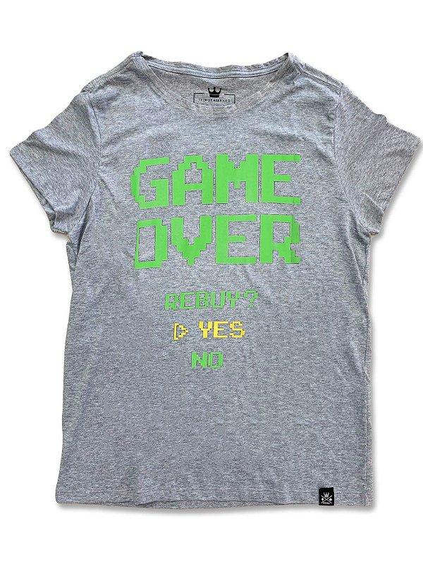Camiseta Feminina Game Over Mescla
