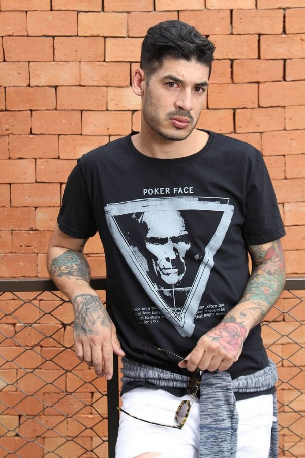 Camiseta Poker Face