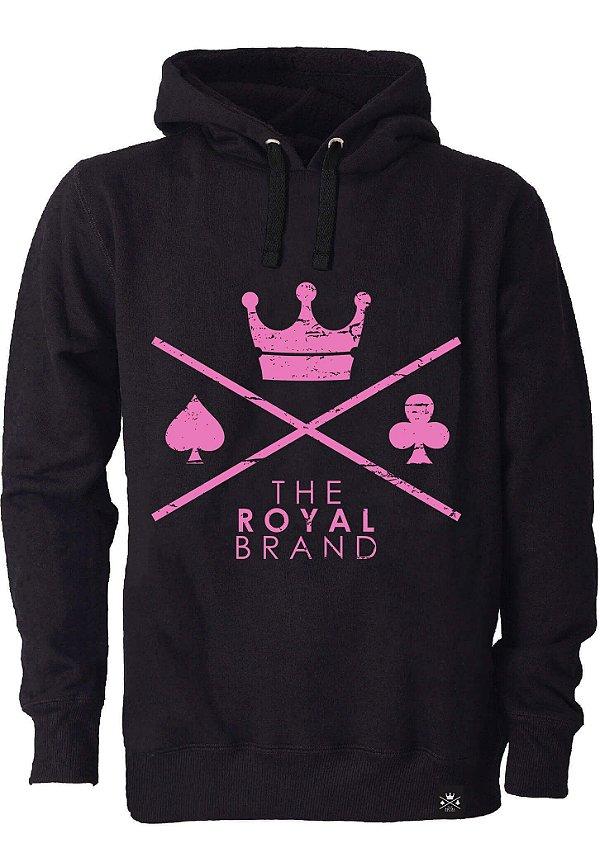 Moletom Feminino Royal Brand Logo Rosa