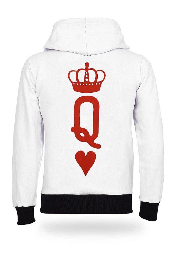 Moletom Feminino Valentine Queen White