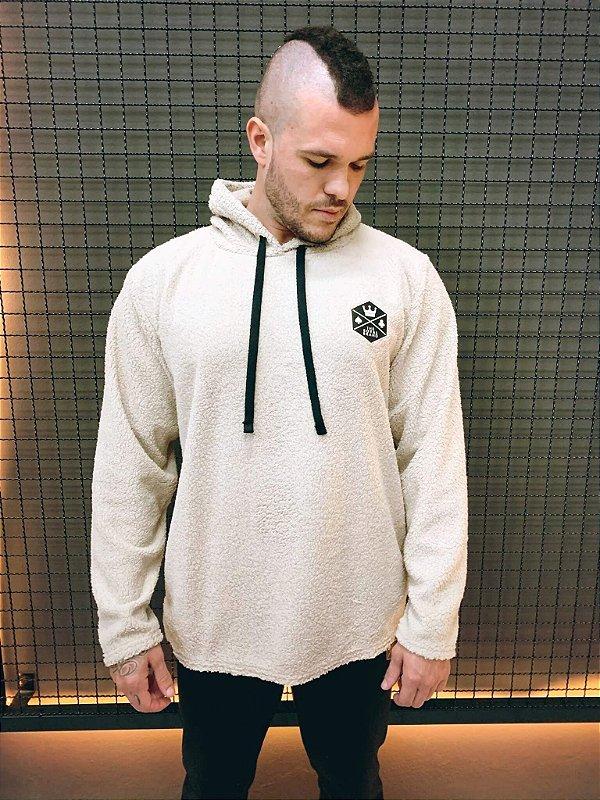 Moletom Unissex Pelúcia Royal Brand Off-White