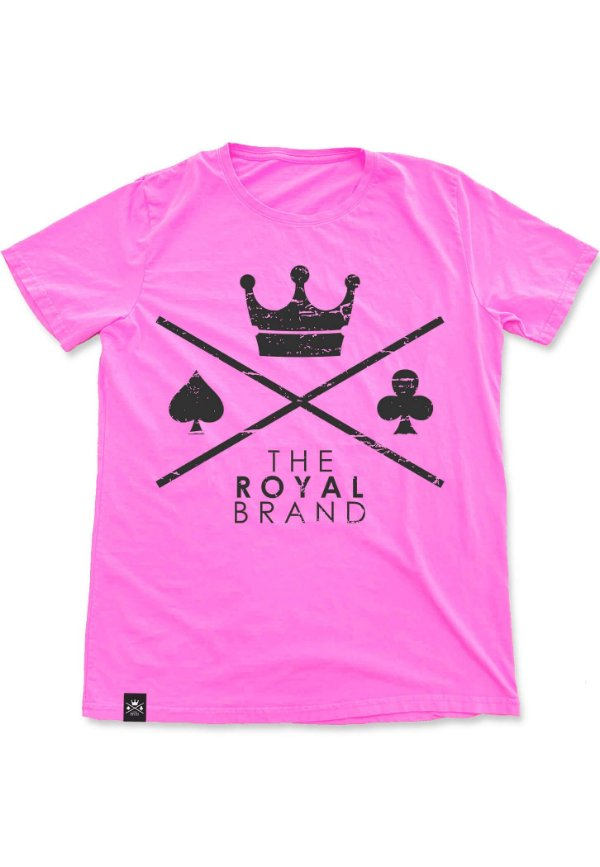 Camiseta Royal Signature Logo Rosa