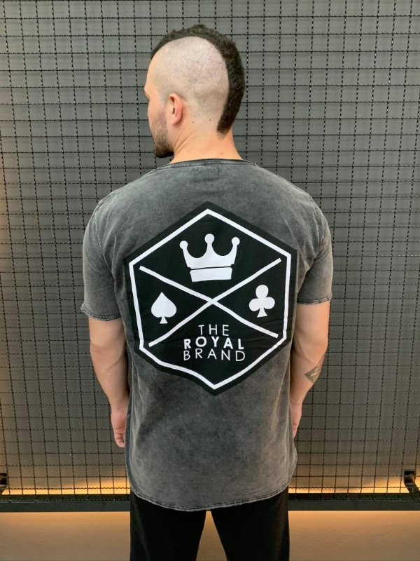 Camiseta Royal Signature Back Logo Marmorizado