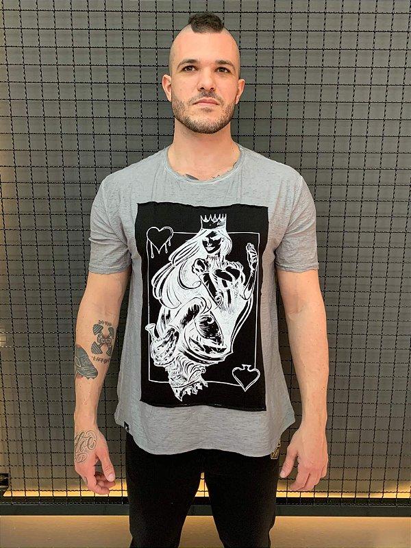 Camiseta Queen King Cinza Flamê