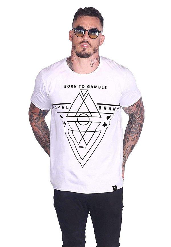 Camiseta Born To Gamble Branco