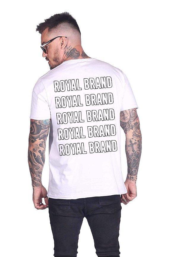 Camiseta Royal Brand Empty Branco