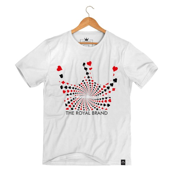 Camiseta Royal Crown Suits Branco