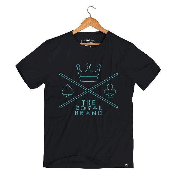 Camiseta Royal Logo Empty Preto