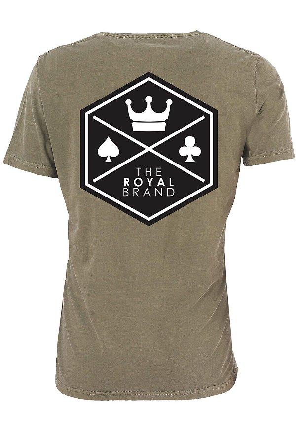 Camiseta Royal Signature Back Logo Verde