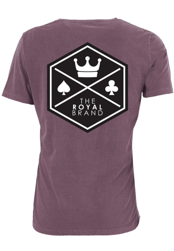 Camiseta Royal Signature Back Logo Bordô