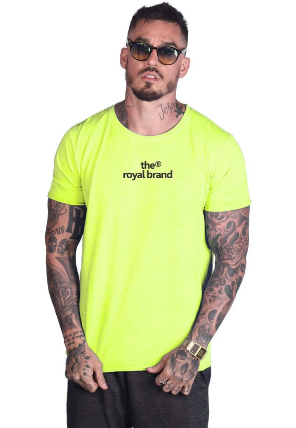 Camiseta Royal Brand Registered Neon