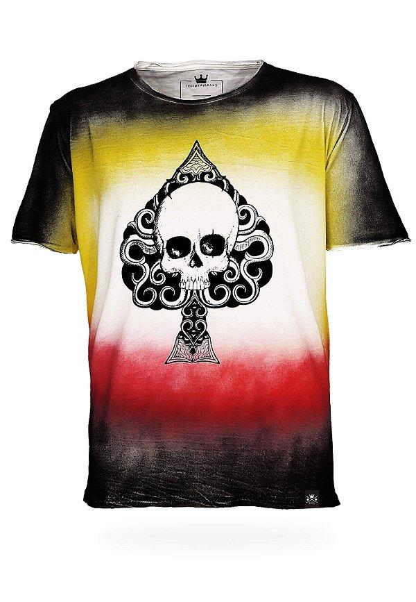 Camiseta Spade Skull Tie Dye