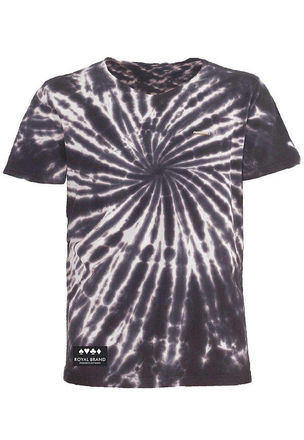 Camiseta Royal Label Tie Dye Marinho