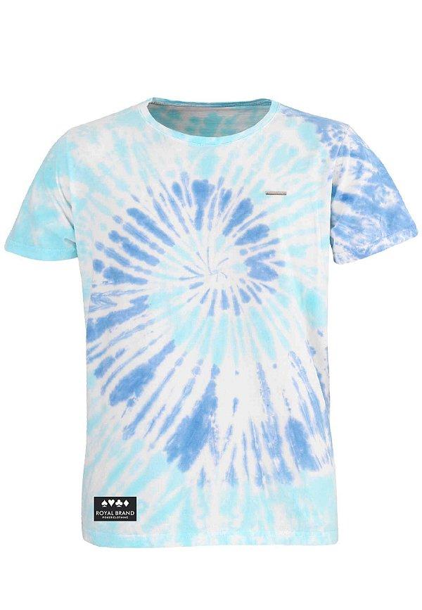 Camiseta Royal Label Tie Dye Azul