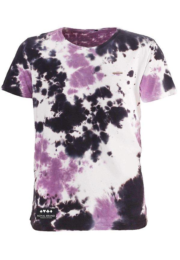 Camiseta Royal Label Tie Dye Roxo