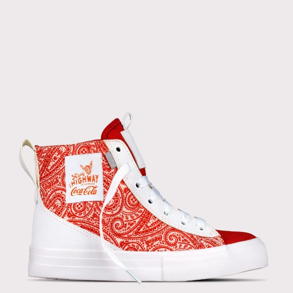 Tênis Coca-Cola Roadster - Branco/Vermelho
