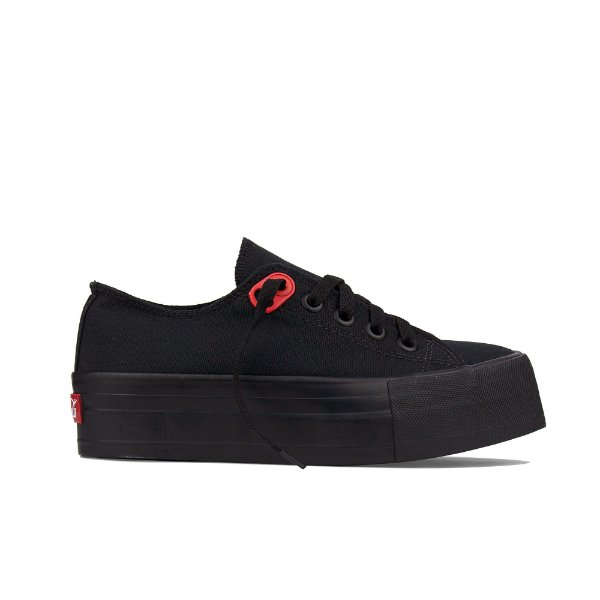 Tênis Coca-Cola Basket Canvas Plataforma - All Black