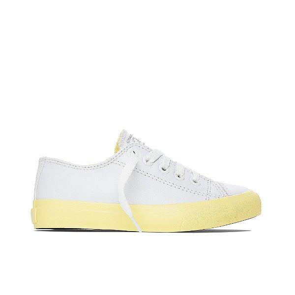 Tênis Capricho Likes Class Color Band - Branco e Amarelo