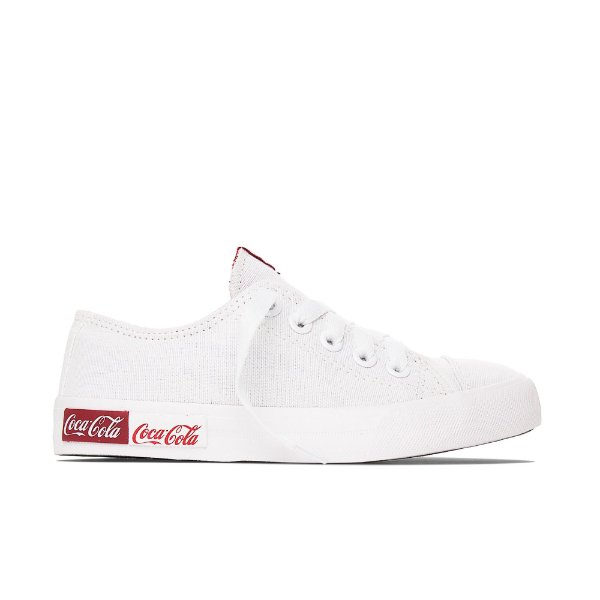 Tênis Coca-Cola Basket Blend Canvas - Branco