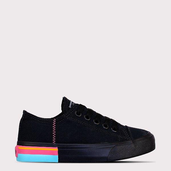 Tênis Capricho Likes Canvas Colore - Black