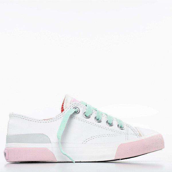 Tênis Capricho Like Class Joy - Branco/Rosa