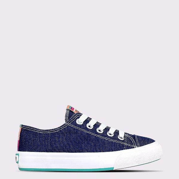 Tênis Capricho Like Canvas Stripes - Blue