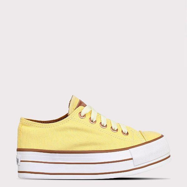 Tênis Capricho Likes Platform Canvas - Yellow/Cobre