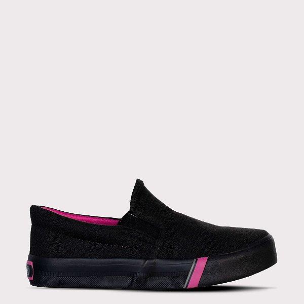 Tênis Capricho Iate Cotton - Black/Pink