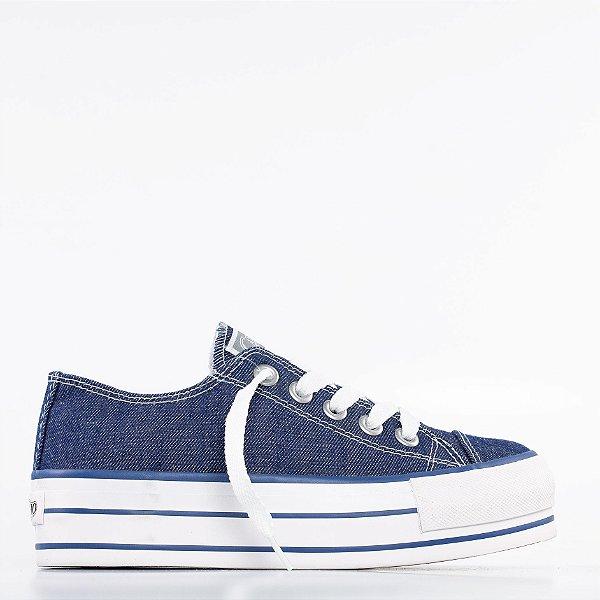 Tênis Capricho Likes Plataform - Jeans Denim